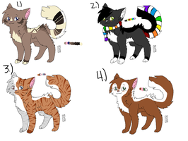 Cat adoptables - OPEN by BUNGAL0W