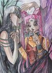 Black Lady meeds Mistress9 ACEO by Eye-X-catcher