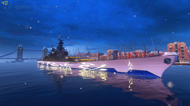 WoWS Fleet of Fog USS Iowa by Scattergunsniper