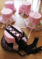 Sweeter than Pink mini top hats by Capsulian