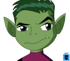 Beast Boy by WaterJewelEmi