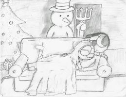 Frosty is ALWAYS watching. by ITS-ALL-NTG