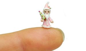 1/4 Scale SHABBY ROSE CHRISTMAS SANTA CLAUS ORNAME by WEE-OOAK-MINIATURES