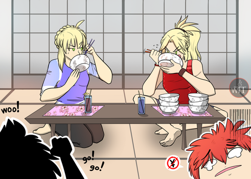 Eating Contest?? by SassCannon