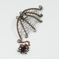 Spider Web Ear Cuff Version 2 - giveaway prize by sylva