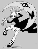 Maka with Witch Hunter:B and W by Hero-Jaxx
