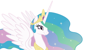 Princess Celestia's amused smile. by Dharthez