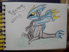 .:Art Trade:. Chibi Kyurem by MikoKawaii