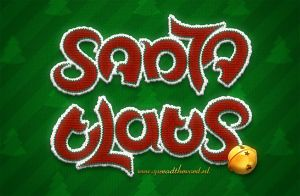 Santa Claus Christmas Ambigram by Leconte