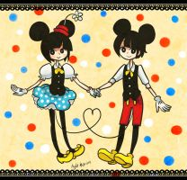 Minnie and Mickey by Garkarios