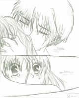 Embrace- Kyo and Tohru by chibireaper