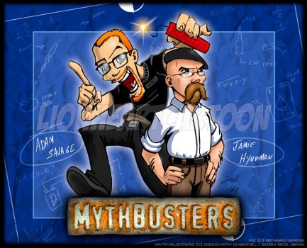 The Mythbusters by Lionheartcartoon