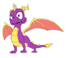 Spyro the dragon lineart by ConkerTSquirrel
