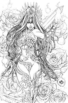 Lady Death - Extinction Express - Lines by JwichmanN
