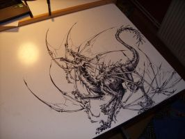 dragon desk by Belial-chan