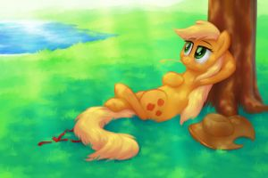 Pau Hana (Applejack Appreciation Day) by verulence