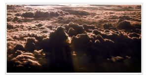 Sunset above the clouds by Zeila