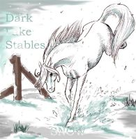 Dark Lake Stables - Snow by life-d-sign