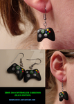 Xbox Controller Earrings Black - Multiple Views by Resonance21