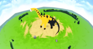 MMD Newcomer Girafarigus + DL by Valforwing