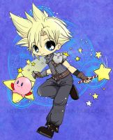 Cloud n Kirby Colored by YamPuff