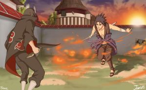 Itachi vs Sasuke Collabi by GaaraJamiE88