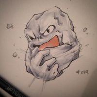 pkmn of the day- rock on by ExShen