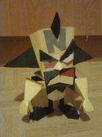 Dr. Neo Cortex Cardboard model by Noxonius