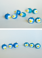 Penguin Charms by stereometric