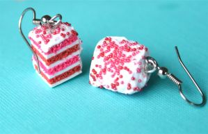 Berry Awesome Cake Earrings by MotherMayIjewelry