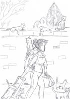 Mad Cat Lady, Out Shopping by SkullsCrystal