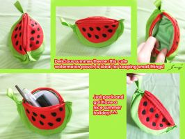 Yummy Watermelon pouch by BlueDove415