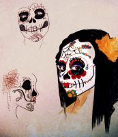 Sugar Skulls by demonic-black-cat