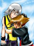 T_T Riku and Sora by Sageofotherworlds