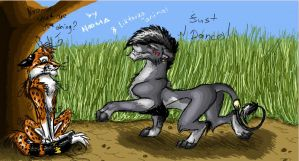 Collab in iScribble with N.L. by Liktarka-animal