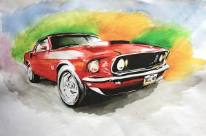 Mustang 69 BOSS 429 by memougler