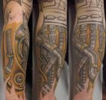 biomechanical s tattoo by dave z james .. by daveZjamestattoos