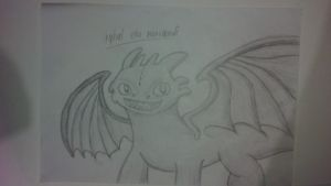 Toothless the night fury dragon by Blewder