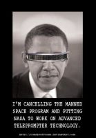 Obamas Teleprompter Technology by Conservatoons