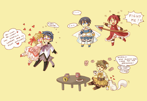 Free! Puella Magi Swim Club by Arwen-chan
