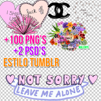 +Pack de Png's para Tumblr. by MalenyeSotelo