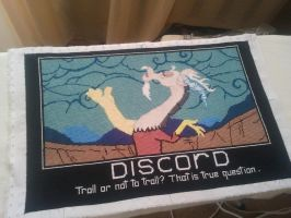 DISCORD on my gray head! Cross Stitch by RufousCat