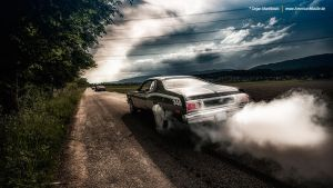 Duster Burnout by AmericanMuscle