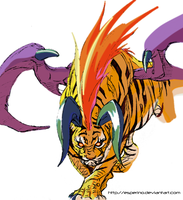 Breath Of Fire 3 Tiger Paint by Esperino