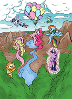 Flying ponies by Senselesssquirrel