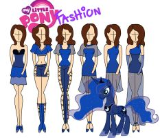 My Little Pony fashion: Luna by Willemijn1991