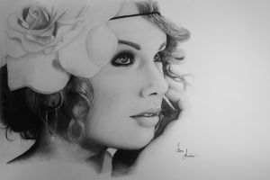 Taylor Swift Drawing by SamLindner