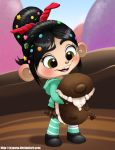Vanellope and a Devil Puppy by Nyaasu