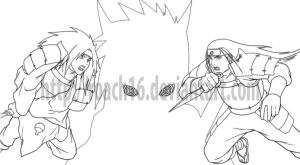 Uchiha Vs Senju by roach16