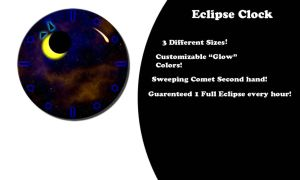 Eclipse Clock by CybOrSpasm